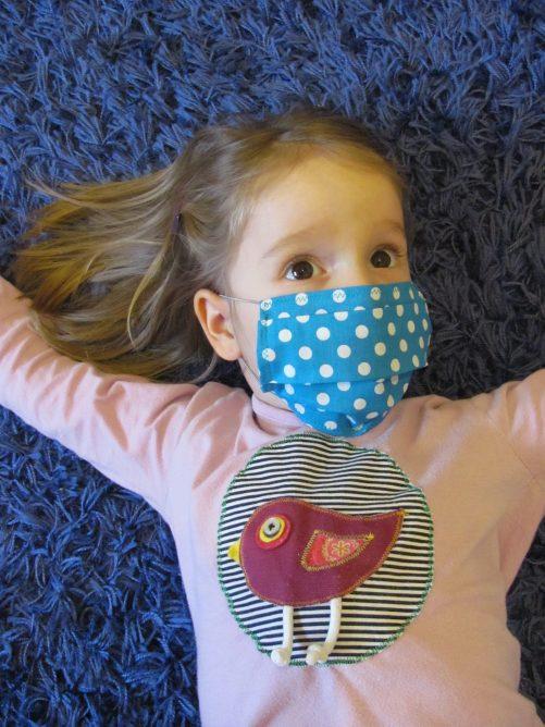 Rúško na ústa tyrkysové | detské