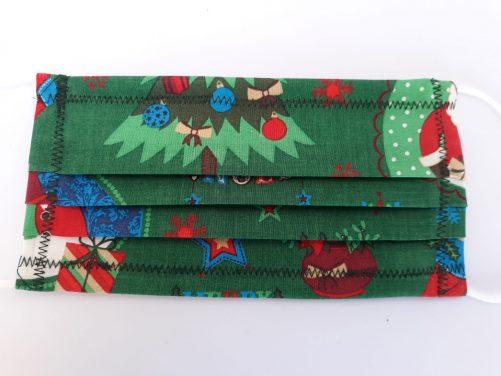 """Rúško na ústa """"Vianoce"""" zelené"""