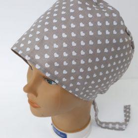 """Operačná čiapka sivá """"Srdiečka"""""""