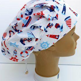 """Operačná čiapka pre dlhé vlasy """"Námornícka"""""""