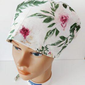 """Operačná čiapka """"Ruže na bielom"""""""
