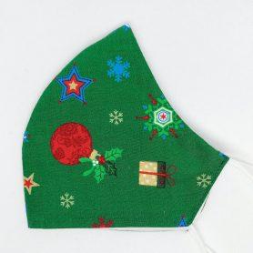 """Vianočné rúško na tvár """"Zelené Vianoce"""""""