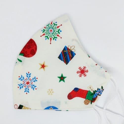 """Vianočné rúško na tvár """"Biele Vianoce"""""""