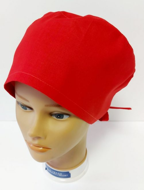 """Operačná čiapka """"Červená jednofarebná"""""""