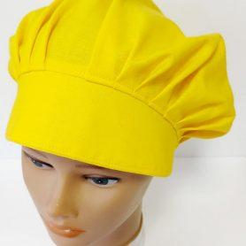 """Operačná čiapka pre dlhé vlasy """"Žltá jednofarebná"""""""