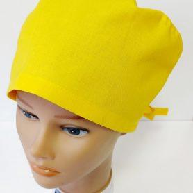 """Operačná čiapka """"Žltá jednofarebná"""""""