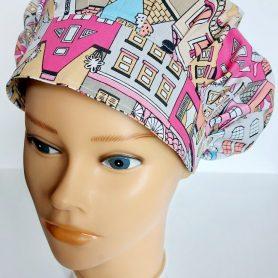 """Operačná čiapka pre dlhé vlasy """"Mestečko"""""""